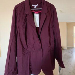 66dab1965 Lifestyle Attitude Jackets & Coats | Wine Colored Blazer | Poshmark